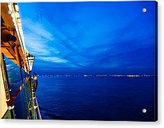 Blue At Sea Acrylic Print