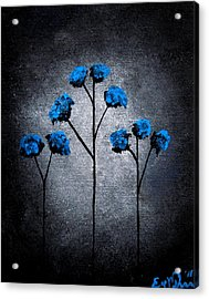 Blue Beauties Acrylic Print by Oddball Art Co by Lizzy Love