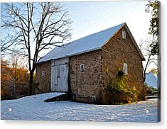 Blue Bell Barn Acrylic Print by Bill Cannon