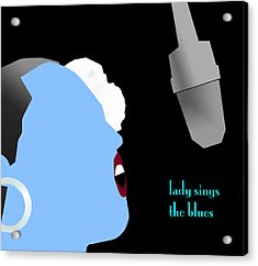 Blue Billie Holiday Acrylic Print