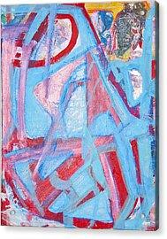 Blue Bin  Acrylic Print by Brooks Blackwood