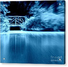 Blue Bridge Acrylic Print by Maria Scarfone