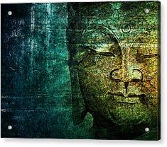 Blue Buddha Acrylic Print by Claudia Moeckel