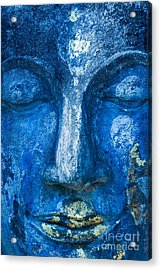 Acrylic Print featuring the photograph Blue Buddha  by Luciano Mortula