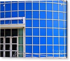Blue Building Acrylic Print by Yali Shi