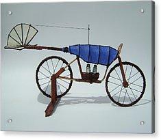 Blue Caravan Acrylic Print by Jim Casey