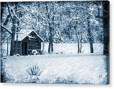 Blue Christmas Acrylic Print by Christine Annas