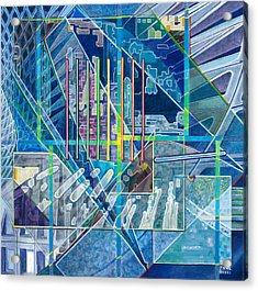 Blue City Day Acrylic Print by Jane Bucci