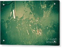 Blue Coats Fire Acrylic Print by Kim Henderson
