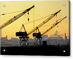 Acrylic Print featuring the photograph Blue Collar Sunset by Mike Flynn