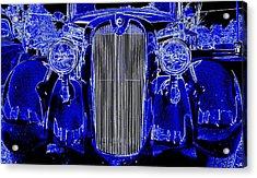 Blue Coupe Acrylic Print
