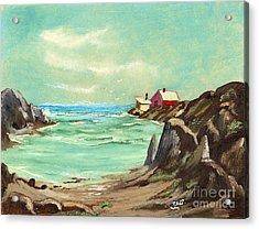 Blue Cove Serenity Acrylic Print