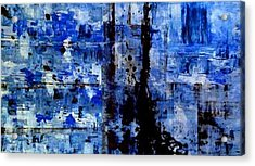 Blue Crash Acrylic Print
