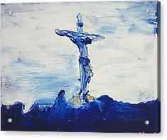 Blue Cross Acrylic Print by Carl Lundgren