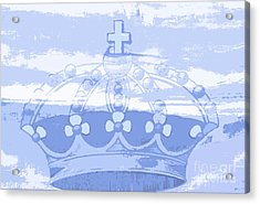 Blue Crown Children's Art Acrylic Print