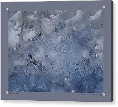 Blue Crystals Acrylic Print by Patricia Overmoyer