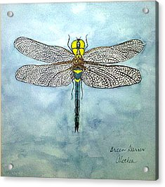 Acrylic Print featuring the painting Blue Darner by Alethea McKee