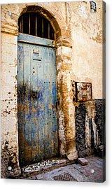 Blue Door Acrylic Print by Marion McCristall