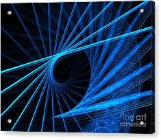 Blue Fantasy Acrylic Print by Yali Shi