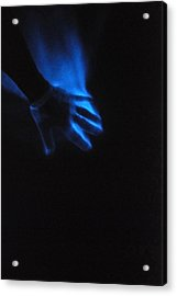Blue Fire Acrylic Print by Luis Esteves