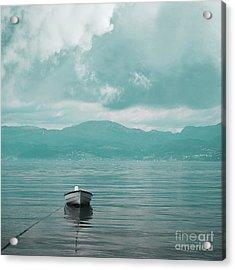 Blue Fjord Acrylic Print
