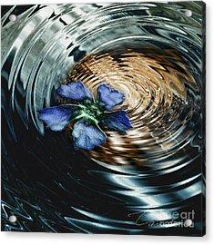 Blue Flower Swirl Acrylic Print by Danuta Bennett