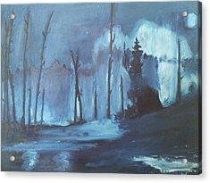 Blue Forest Acrylic Print by Joseph Giler