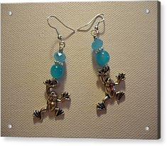 Blue Frog Earrings Acrylic Print