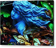 Blue Girl Acrylic Print by Todd Sherlock