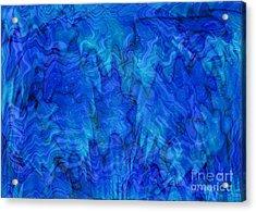 Blue Glass - Abstract Art Acrylic Print by Carol Groenen