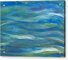 Blue Harmony Acrylic Print by Jeanette Stewart
