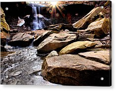Acrylic Print featuring the photograph Blue Hen Falls by Michelle Joseph-Long