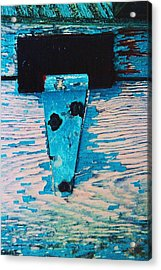 Acrylic Print featuring the photograph Blue Hinge by Bob Whitt
