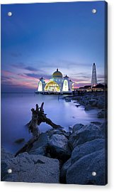 Blue Hour At The Mosque Acrylic Print