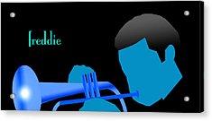 Blue Hub Acrylic Print by Victor Bailey