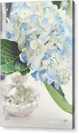 Blue Hydrangea Acrylic Print by Tamara Adams