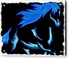 Blue Ice Flows Over Adobe Dance Acrylic Print by Mark Schutter
