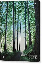 Blue In Green Acrylic Print by Dan Lockaby