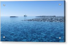 Acrylic Print featuring the digital art Blue Infinity... by Tim Fillingim