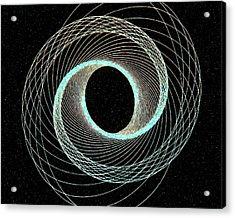 Blue Inner Circle Acrylic Print by James Steele