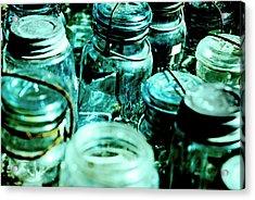 Blue Jars I Acrylic Print by Laurianna Murray