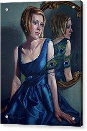 Blue Acrylic Print by Jean Hildebrant