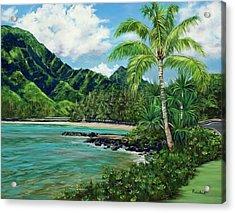 Blue Lagoon Acrylic Print by Lisa Reinhardt