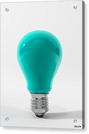 Blue Lamp Acrylic Print by BaloOm Studios
