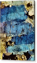 Blue Layers Of The Mind Acrylic Print by Gun Legler