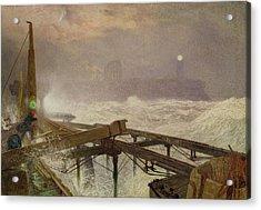 Blue Lights - Teignemouth Pier Acrylic Print