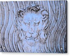 Blue Lion Acrylic Print by