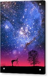 Blue Magellanic Cloud Acrylic Print