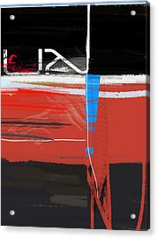 Blue Mark Acrylic Print by Naxart Studio
