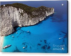 Acrylic Print featuring the photograph Blue by Milena Boeva